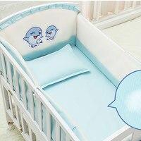 5 шт./компл. мультфильм анимированные кроватки кровать бампер для новорожденных 100% хлопок Удобная детская кровать протектора для нелиняюще