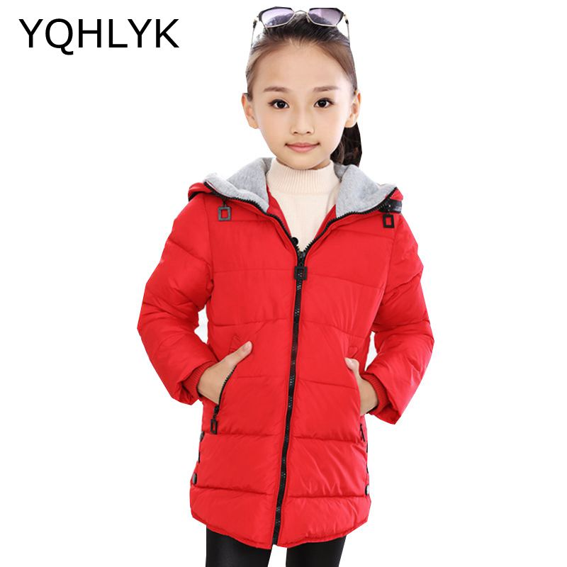New Fashion Winter Clothes Girls Coat 2018 Korean Children Thick Hooded Zipper Jacket Casual Warm Kids Clothes 6-13Y W22 new fashion winter cotton girls coat 2018 korean children hooded thick warm leather jacket casual atmosphere kids clothes w127
