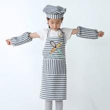 Творческий мультфильм детский фартук игровой дом шеф-повара одежда кухня приготовление пищи искусство для детского сада живопись фартук