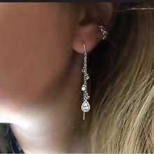 9 colors water drop earring 2018 latest design girl women ladies Romentic Gorgeous jewelry cz drop charm fashion ear jewelry