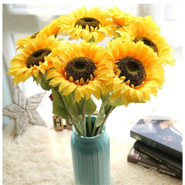Aliexpress.com : Buy Single Big Size Sunflower Artificial Flower ...