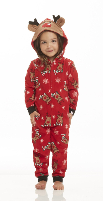 Lovely Christmas FSet Mom Dad Infant Baby Deer Sleepwear Onesie – 21JS