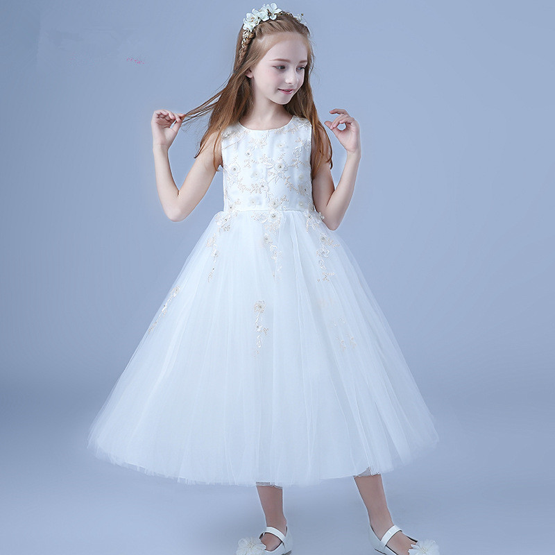 Long Beach Party Dress Girls Simple Design Wedding Vestido