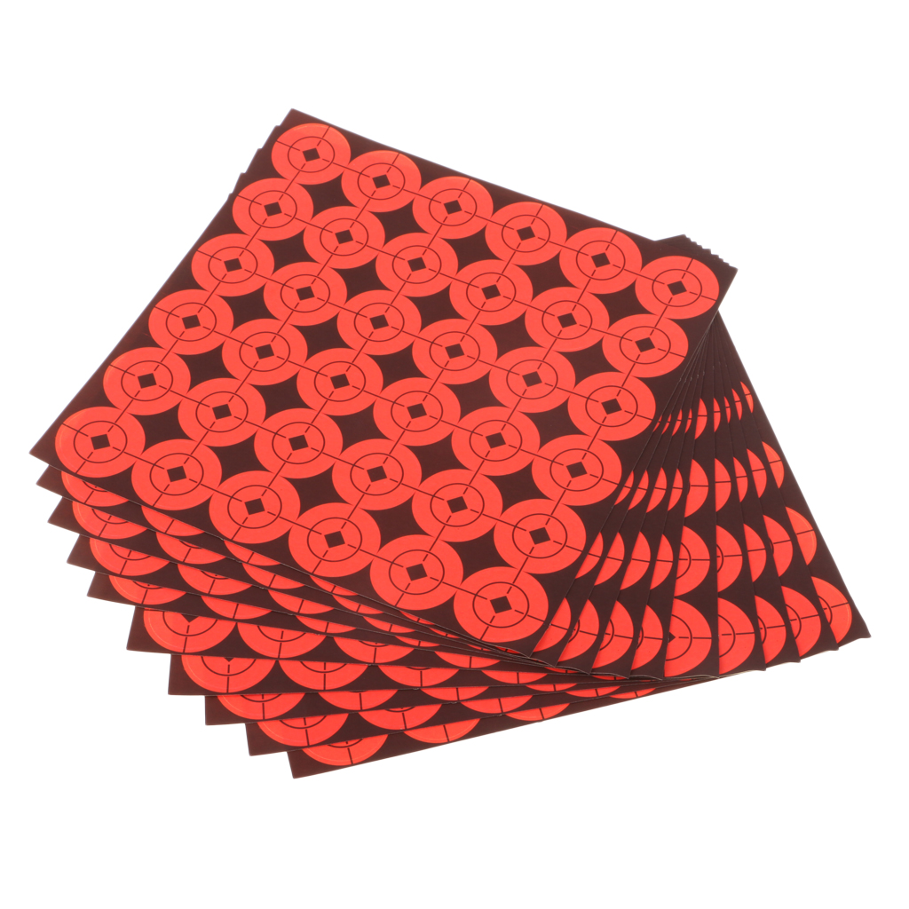 360pcs Paper Target  1' Round Self Adhesive Fluorescent Orange Shooting Target Dots For Hunting Archery Arrow Shoot Accessories