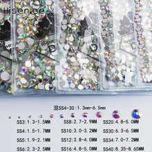 SS3-SS40 Mixed Sizes Flat Back Crystal Clear AB Glue On Rhinestone Nail Art Tips Sticker For Nails Diy Nail Glass Stone factory direct sale 6 sizes sew on red ab teardrop waterdrop water drop droplets glass crystal rhinestone gold claw cup
