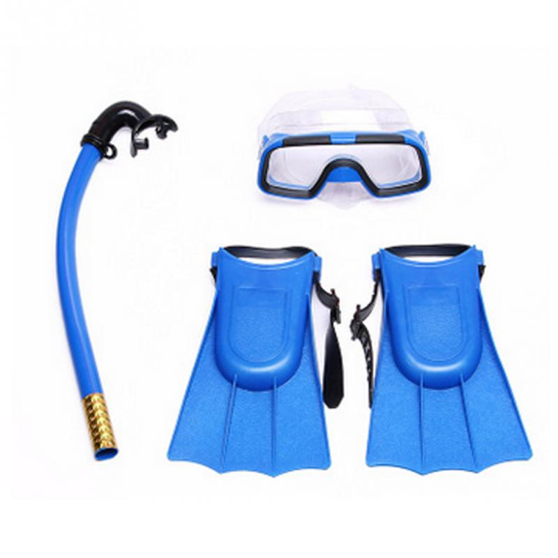 Three Sets Kids Children Tube Snorkel Mask Anti Fog Swimming Goggles Glasses Scuba Snorkel Mask Glasses Swimming Pool Diving Web