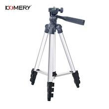 "KOMERY Stativ Halter Portable Professional Kamera Stativ Aluminium Stativ für telefon 1/4 ""Schraube 360 Grad tripode para camara"