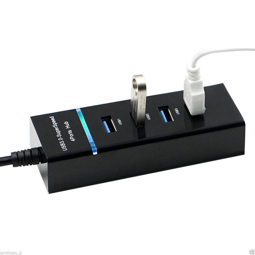 Image 5 - 4 Port  USB Hub 3.0 USB Splitter High Speed 5Gbps USB 3.0 Hub LED With ON/OFF Switch For Tablet Laptop Computer Notebook-in USB Hubs from Computer & Office