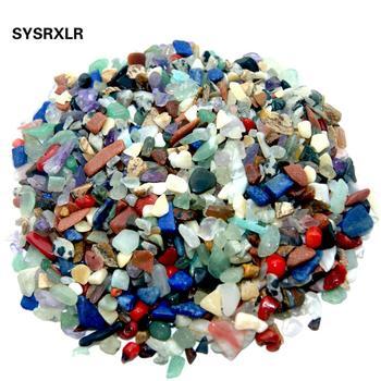 50 g worek 3-5 MM kamień naturalny Lapis lazuli kryształ kwarcowy agaty w suszarce kamienie minerałów dla Fish Tank akwarium ogród dekoracji tanie i dobre opinie moda zawieszki Natural stone SYSRXLR Irregular shape