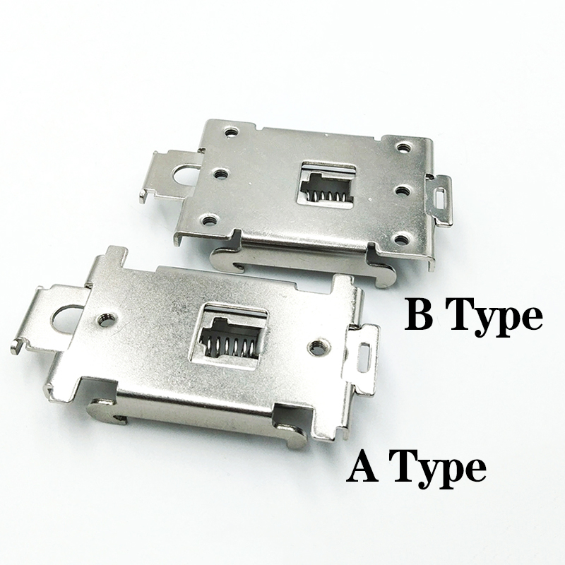 цена на buckle DIN rail fixed solid state relay clip clamp 35mm single-phase solid state relay mounting rack radiator mouting rack