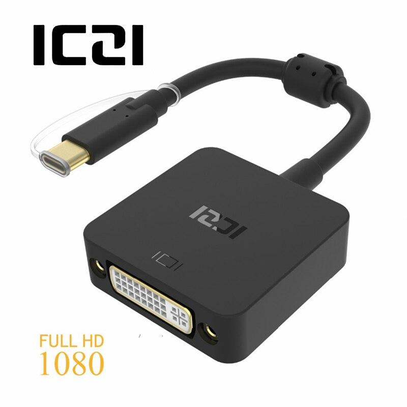 все цены на ICZI USB 3.1 Type C (USB-C & Thunderbolt 3 Port Compatible) to DVI Adapter for Macbook 12inch Chromebook Free shipping онлайн