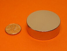 NdFeB Disc Magnet 1 1/2 dia.x1/2 thick Neodymium Permanent Magnets Grade N42 NiCuNi Plated Axially Magnetized ems SHIPPED 1 pack dia 6x3 mm jelwery magnet ndfeb disc magnet neodymium permanent magnets grade n35 nicuni plated axially magnetized