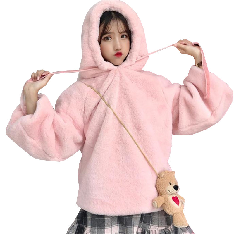 2018 New Autumn Winter Women Hooded Sweatershirts Warm Thick Velvet Hoodies Ladies Long Sleeve Pullovers Tops Plus Size 2XL A972