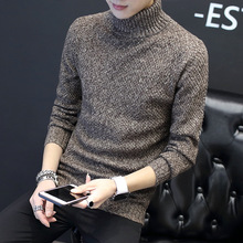 Fall 2018 new turtle neck long sleeve sweater knit men's cultivate one's morality