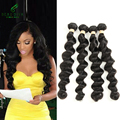 Hot Sale 4 Bundle Deals 7A Unprocessed Virgin Hair Brazilian Loose Wave Human Hair Bundles Brazilian Virgin Hair Loose Body Wave