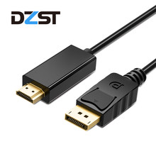 DZLST DP to HDMI Cable Male to Male DisplayPort to HDMI conversion Video Audio Adapter Cable for PC HDTV Projector Laptop 1080P(China)