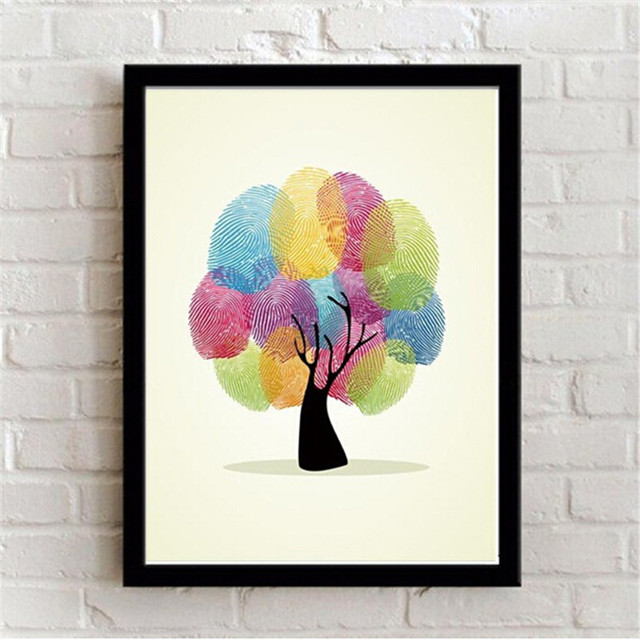 Framed wall art Decoration Paintings Modern abstract Tree Picture On ...