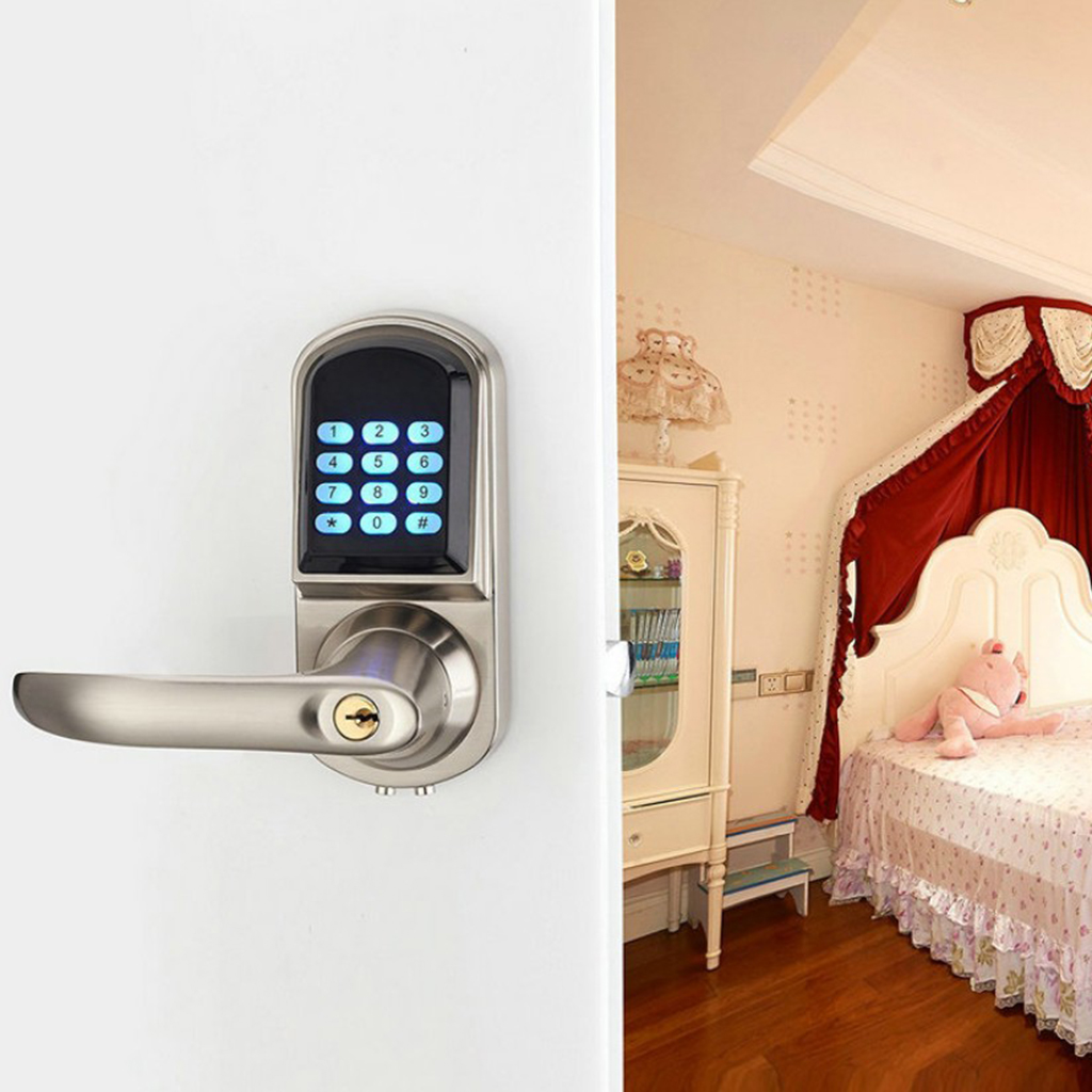 Electronic Keyless Code Door Lock Unlock With Code RFID Card And Mechanical Keys for Home Hotel Entry Security цена