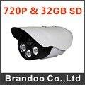 Caliente venta HD 720 P de la cámara sd, exterior auto cámara de grabación, 32 GB tarjeta micro SD usado, 25 metros IR de la visión nocturna modelo BD-404HD