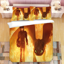 How to Train Your Dragon 3D bedding set  Duvet Covers Pillowcases Toothless comforter sets bedclothes bed linen
