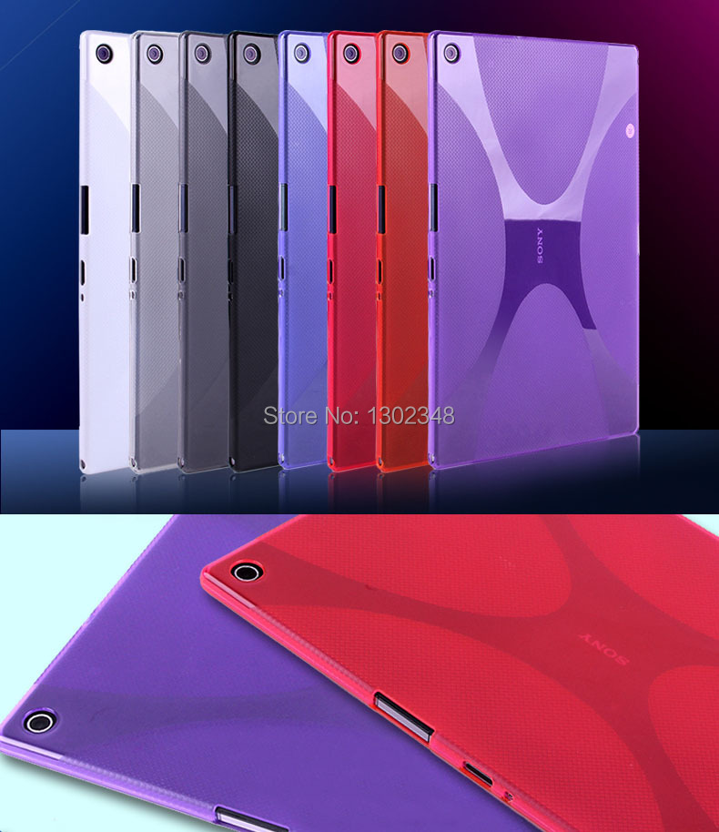 New Anti-skid Matte X Line Soft Silicon Rubber TPU Gel Skin Cover Protector Shell Case For Sony Xperia Tablet Z2 10.1 Tablet new x line soft clear tpu case gel back cover for samsung galaxy tab s2 s 2 ii sii 8 0 tablet case t715 t710 t715c silicon case