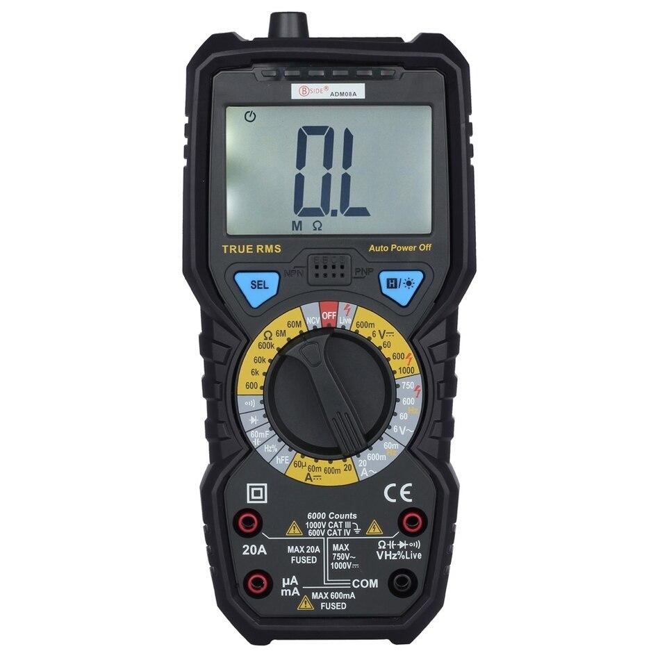 True Rms Meter : Bside adm a true rms value digital multimeter dc ac