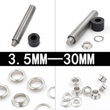 3.5mm-30mmEyelets installation tool. Metal rivets. Buttonhole. Stomata. Hand knocking tools. Buckle. Clothing & Accessories.