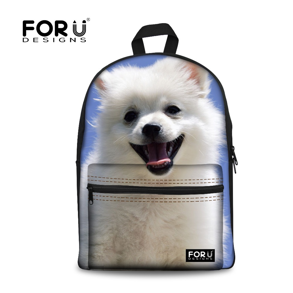 FORUDESIGNS Chihuahua Primary Schoolbag Pomeranian Printing Backpack For Girls Back To School Bag Cute Schoolbags 2017 New Bags
