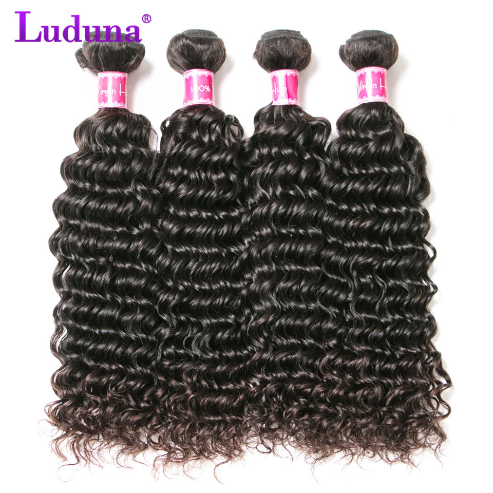 Luduna Deep Wave 8-28inch Malaysian Hair Weave Bundles Human Hair Bundles 3pcs/lot Remy Hair Extension Can Be Dyed