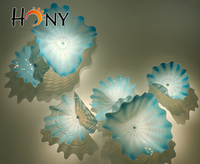 Free Shipping Contemporary Luxury Blown Glass Wall Plate Art