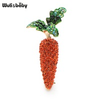 Red Crystal Carrot Brooches For Women And Men Fashion High Quality Suits Sweater Dress Banquet Brooch
