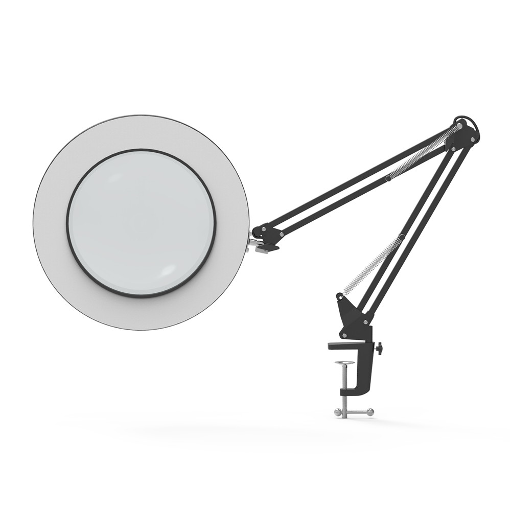 Lupe Led Lampe 5x Hingebungsvoll Led Vergrößerungs Tisch Lampe Metall Clamp Schaukel Arm Schreibtisch Lampe Stufenlose Dimmen 3 Farben 7 W 4,1 durchmesser Objektiv