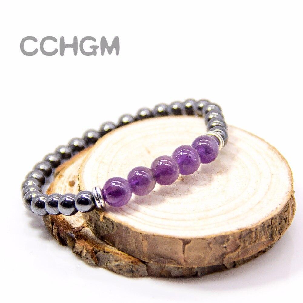 <+>  CCHGM Yoga 5 Chakras Браслеты Женщины Сверкающий Кристалл Исцеление Бисер Баланс Натуральный Лава Ка ①