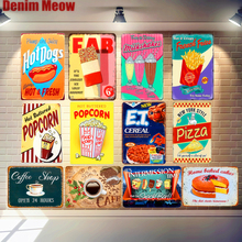 New Arrive HOT DOG Vintage Metal Tin Sign Decorative Coffee Plates Shabby Chic Decor for Cafe Bar Wall Stickers Wholesale N036