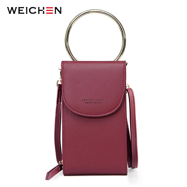 WEICHEN Multi-functional Shoulder Bags For Women Brand Designer Ladies Small Handbag Female Clutch Purse Phone Pocket Mini Bag