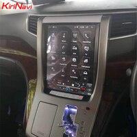 KiriNavi Vertical Screen Tesla Style 12.1 Inch Android 6.0 Car Radio For Toyota Alphard Car Stereo Dvd GPS Navigation 2007 2013