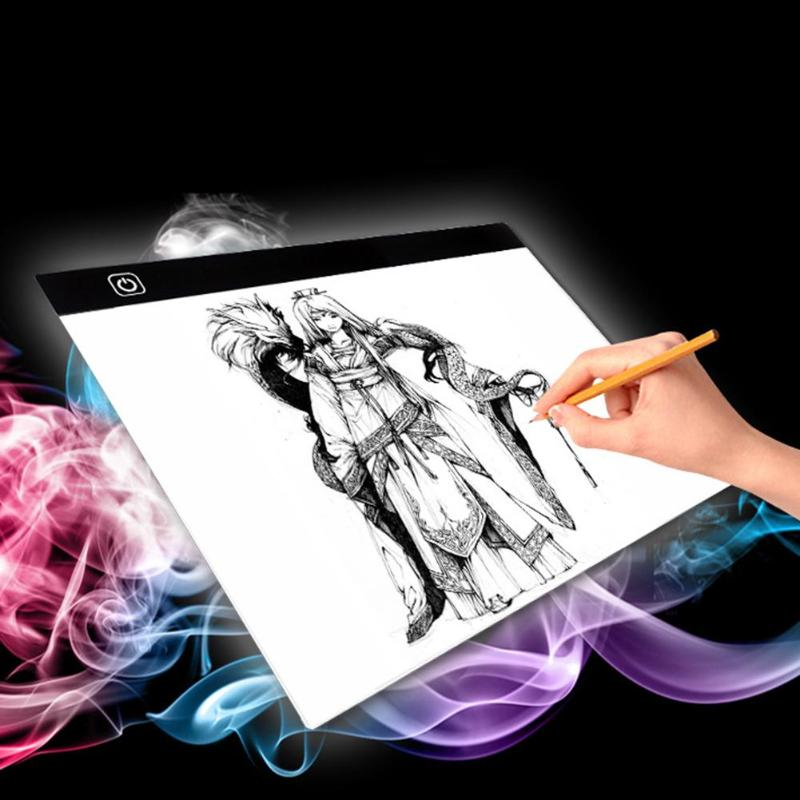 A3 Dimmable Brightness LED Painting Drawing Board Digital Tablet Touch Copy Plate Light Tablet Art Stencil Copy Desk Draw