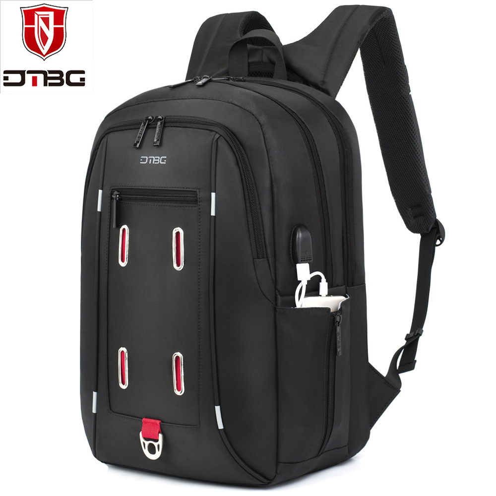 DTBG 17.3 inch Laptop Backpack with USB Charging Port Lightweight Travel Backpack Men Women College Computer Notebook School Bag