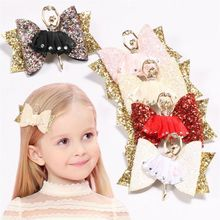 Toddler Kids Baby Girls Bow Clips Ballet Girl Hair Clip Hairpins Barrette 2019 Hot Sale