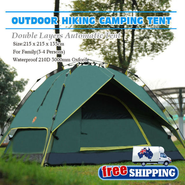 *Australia Domestic Delivery Free Shipping 3-4 Person Double layer Dual door Instant Tent & Australia Domestic Delivery Free Shipping 3 4 Person Double layer ...
