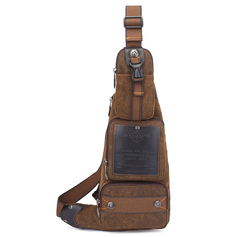 ФОТО 2017 High quality Men Canvas  Back Pack Bag Travel High Capacity  Cross Body Single Rucksack Shoulder Messenger  Chest pack