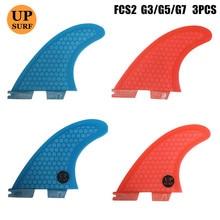 цена на Surf Fins G5/G3/G7 surfboard accessories Honeycomb Fins Tri fin set fcs fin Fibreglass