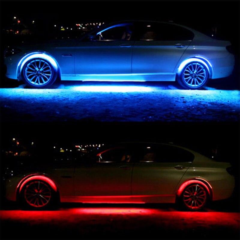 Auto RGB LED Strip Licht 5050 SMD LED Strip Verlichting Onder auto ...
