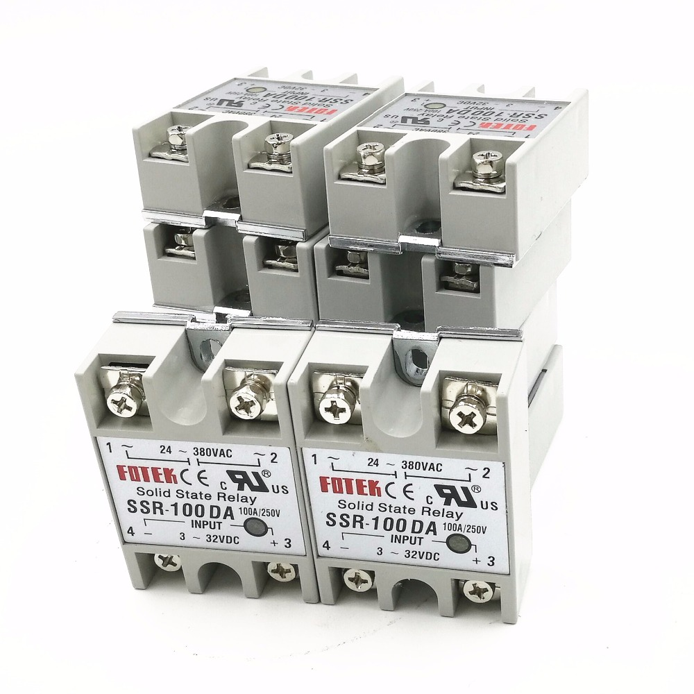 10pcs Ssr100da Ssr 100da Manufacturer 100a Single Phase Solid Current Input Relay State Relayinput 3 32vdc Output 24 380vac In Relays From Home Improvement On