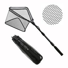 SANLIKE Triangular Deal with Fishing Nets Aluminum Extensible Foldable Pole Deal with Fishing Web Sturdy Robust But Mild Weight