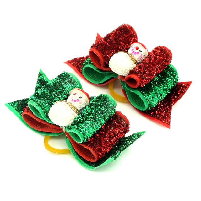 Bajila 3pcs Handmade Pet Grooming Accessories Products Hair rope For Dogs Christmas resent