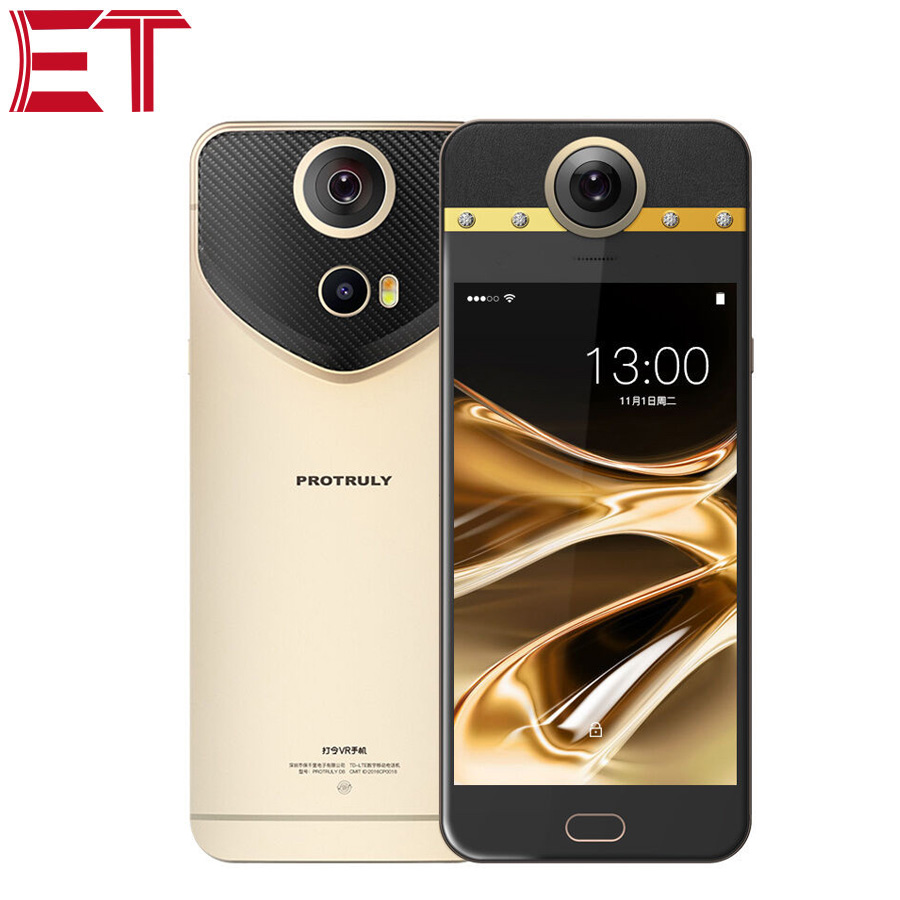 Original PROTRULY D7 360 Degree VR Mobile Phone 5.5 Inch 13MP+8MP Camera Deca Core 3GB RAM 32GB ROM Dual SIM Android Call Phone