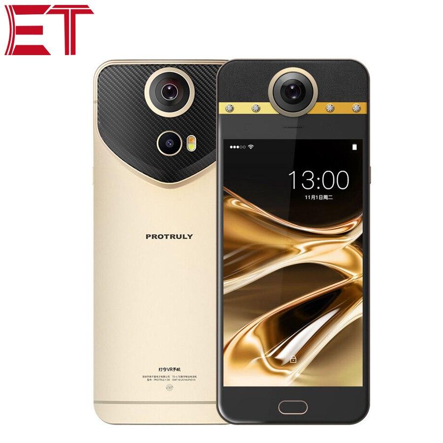 Original PROTRULY D7 360 Graus Câmera VR Mobile Phone 5.5 Polegada 13MP + 8MP Deca Núcleo 3GB RAM 32GB ROM Dual SIM Android telefone Chamada