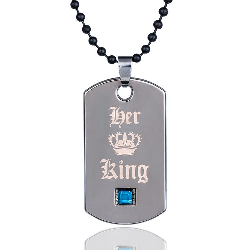 Military Necklace Wild Animals Custom Zinc Alloy Pendant Necklace Dog Tags