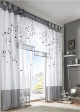 Price for 1 Piece Hot Selling Embroidered Sheer Curtain Tulle Blind Cortinas Panel For Living Room
